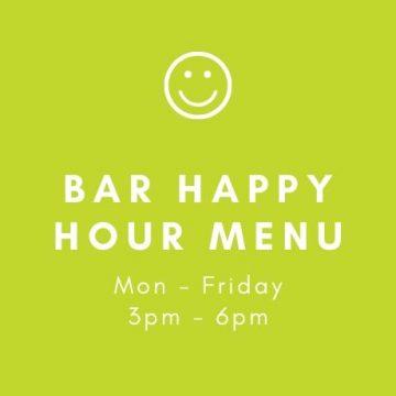 Happy hour bar menu two georges boynton beach